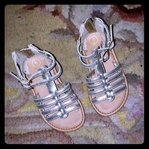 Toddler size 6 gladiator sandals